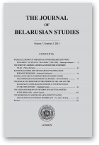The Journal of Belarusian Studies, Vol. 7, No. 3