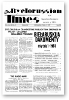 The Byelorussian Times, 33/1981