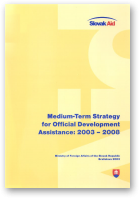 Medium-Term Strategy for Official Development Assistance: 2003 - 2008