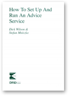 Wilson Dick, Mniszko Stefan, How To Set Up And Run An Advice Service